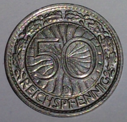 Image #1 of 50 Reichspfennig 1928 D