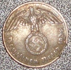 2 Reichpfenning 1938 F