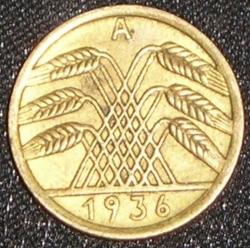Image #2 of 5 Reichspfennig 1936 A