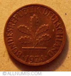 Image #2 of 1 Pfennig 1974 D