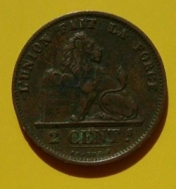 Image #1 of 2 Centimes 1875 French