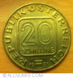 20 Schilling 1991 - Martinsturm In Bregenz