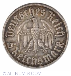 Image #1 of 5 Reichsmark 1933 D - 450th birth anniversary of Martin Luther