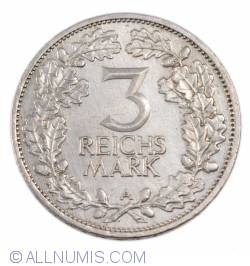 Image #1 of 3 Reichsmark 1925 A - 1000 years of the Rhineland