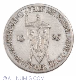 Image #2 of 3 Reichsmark 1925 A - 1000 years of the Rhineland