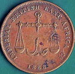 1 Pice AH1306 (1888) C/M - Planchet faults on the obverse.