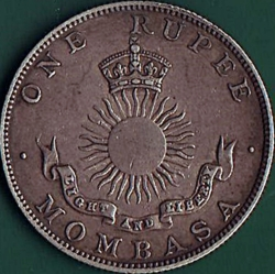 Image #2 of 1 Rupee 1888 H.
