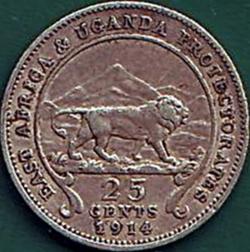 25 Cents 1914 H