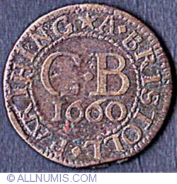 Image #2 of 1 Farthing (1/4 Penny) 1660