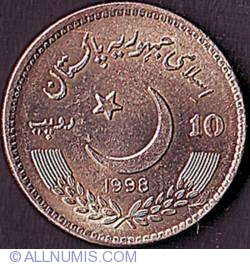 Image #1 of 10 Rupees 1998 - 25 Years of the Pakistani Senate