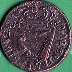 1/2 Penny 1696