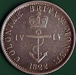 1/4 Dollar 1822