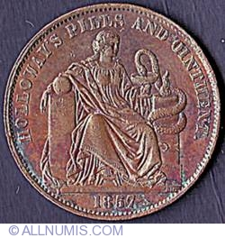 Image #2 of 1/2 Penny 1857