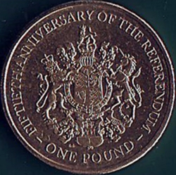 1 Pound 2017 PM - 50th. Anniversary of the Referendum of 1967