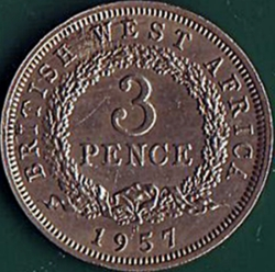 3 Pence 1957 H