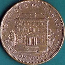 1 Penny 1842 - Bank of Montreal.