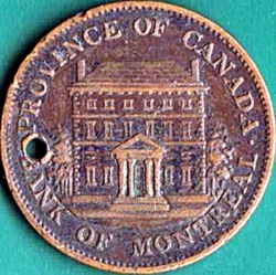1/2 Penny 1844 - Bank of Montreal.