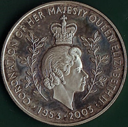 100 Sika 2003 - 50 Years since Queen Elizabeth II's Coronation.