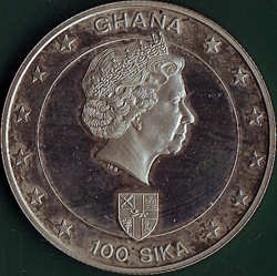 100 Sika 2003 - 50 Years since Queen Elizabeth II 's Coronation.