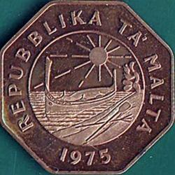Imaginea #1 a 25 Cents 1975 - Declaration of the Republic of Malta (13.12.1974).