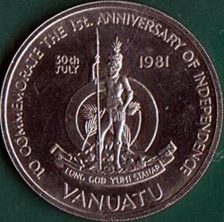 50 Vatu 1981 - 1st. Anniversary of Independence