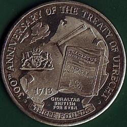 Image #2 of 3 Pounds 2013 - Tercentenary of the Treaty of Utrecht.