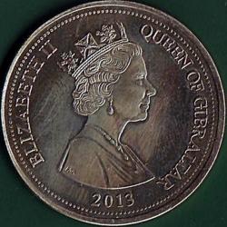 Image #1 of 3 Pounds 2013 - Tercentenary of the Treaty of Utrecht.