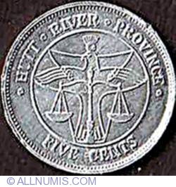 Image #2 of 5 Cents 1977 - Planchet fault on obverse.