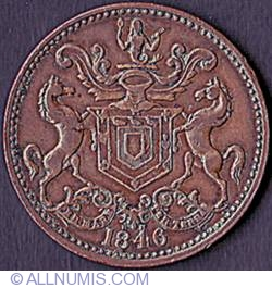 Image #1 of 1/2 Penny  1846 RH - Rutherford Brothers