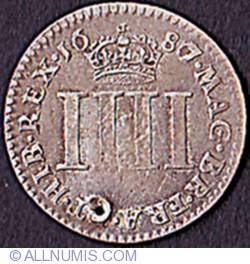 Image #2 of Maundy 4 Pence (1 Groat) 1687
