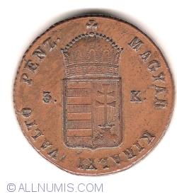 Image #2 of 3 Krajczár 1849