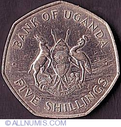 Image #1 of 5 Shillings 1972