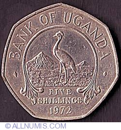 Image #2 of 5 Shillings 1972