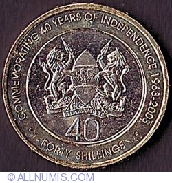 40 Shillings 2003 - 40th Anniversary of Independence