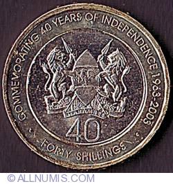 Imaginea #2 a 40 Shillings 2003 - Aniversarea a 40 de ani de Independenta