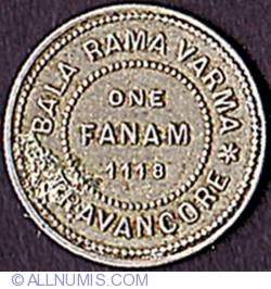 Image #2 of 1 Fanam 1942 (ME 1118)
