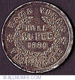 1/2 Rupee 1889