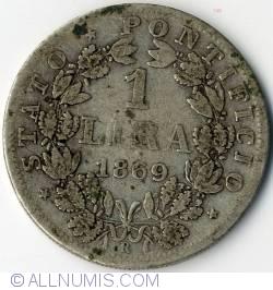 Image #2 of 1 Lira 1869