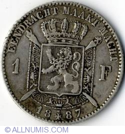 Image #2 of 1 Franc 1887 - Dutch