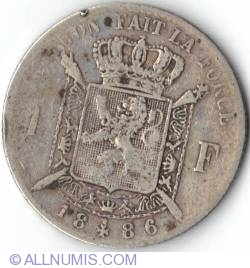 Image #2 of 1 Franc 1886 French