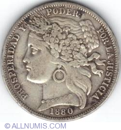 Image #1 of 1 Peseta 1880