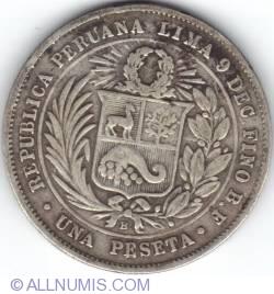 Image #2 of 1 Peseta 1880