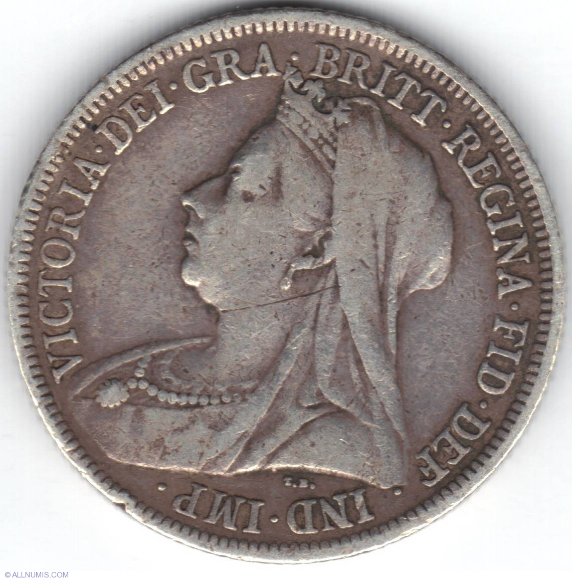 Coin Of 1 Shilling 1900 From Great Britain Id 14032