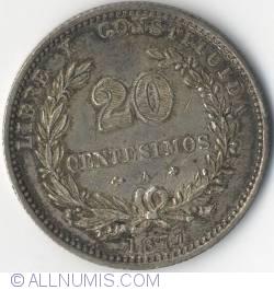Image #2 of 20 Centesimos 1877